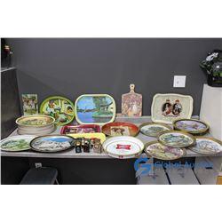 Tins, Tin Trays, Tin Wall Decor, Salt & Pepper Set, Vintage Spice Tins, & Related