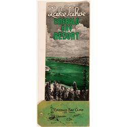 Emerald Bay Camp / Resort Brochure & Rare Luggage Tag  (113336)