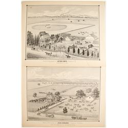 Thompson & West Lithographs of Franklin, CA (near Sacramento)  (82459)