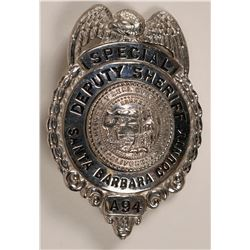 Santa Barbara County Special Deputy Sheriff Badge   (119761)