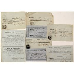 IOOF 1850's Paperwork, Stockton  (57369)