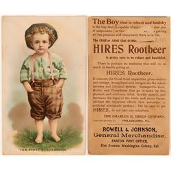 Hires Root Beer Trade Card from Washington Colony, Cal. (Rare Location)  (118314)