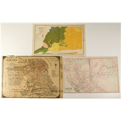 Antique California Maps c1872-1896 (Lot of 3)  (31975)