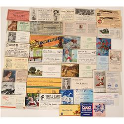 Central Valley Advertising Blotters from California Group (30)  (118307)