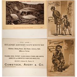 Cigar and Hydraulic Mining Tradecards (2)  (100006)