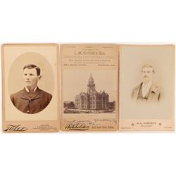 Old California Cabinet Card Trio  (117276)