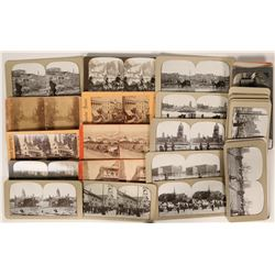 Stereo-view photo cards of San Francisco after the earthquake, and Yosemite valley  (118006)