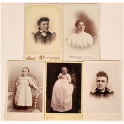 Antique Western Photographs, Colorado Cabinet Cards (Lot of 5)  (118162)