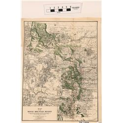 Irrigation & Forest Map of Rocky Mountain Region  (118249)
