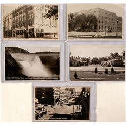 Boise Idaho, early Real Photo Postcards: Deer Reserve, Boise Stampede, Main St., & More (117785)