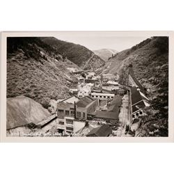 Burke, Idaho,  Real Photo Postcard: Mine, Quarry, Buildings, Train Track in Ravine (119951)