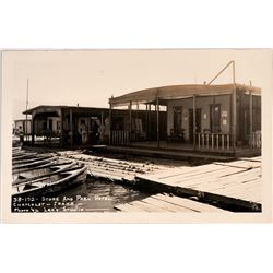 Chatcolet, Idaho, Real photo postcard Store and Park Hotel; Houseboat  (119946)