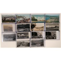 Couer D' Alene Shore, Idaho, set of 14 real photo postcards; 10 black/white/ 4 colored  (117988)