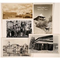 Idaho City, ID Real Photo Postcards; Set of five cards from this early Gold Rush town  (117970)