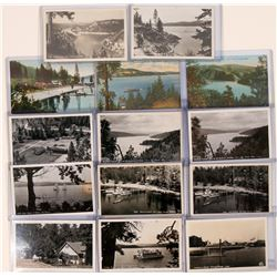 15 RPC Collection of Coeur D'Alene Idaho, 12 black/white; 3 color  (119565)