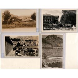 Lava Hot Springs, Idaho-- Set of 4 antique Real Photo Postcards  (117784)