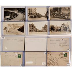 Lewiston Idaho Real Photo Postcards ; Set of 6 black white RPCs  (119940)