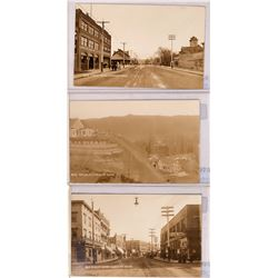 Lewiston, Early RPCs, set of 3 ; Main Street, Street Scene, Lewiston Mercantile, Etc. (117782)
