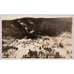 Mt. Idaho, Birds-eye View from Plane, Real photo postcard  (117987)
