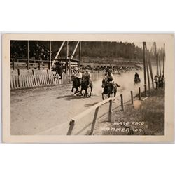Horse Race Real Photo Postcard, Plummer, Idaho  (117926)