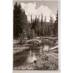 Landscape Real Photo Postcard of Warm Lake, Idaho  (117811)
