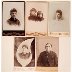 Montana Antique Photographs: 5 Cabinet Cards  (118160)