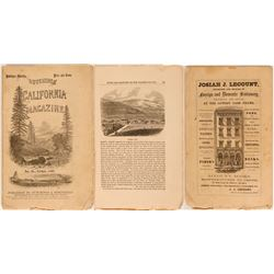 Hutchings' California Magazine w/ 1st Published View of Carson City  (113343)