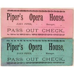 Piper's Opera House Pass Out Checks  (119688)