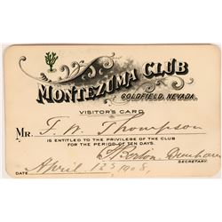 Montezuma Club Visitor's Pass (119144)