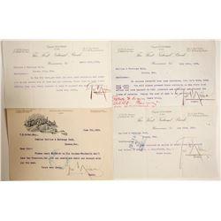 George Nixon Signed Bank Memos, Winnemucca, NV  (89972)