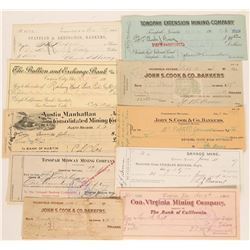 Nevada Mining Check Collection (Austin, Virginia City, Goldfield, Tonopah)  (113335)