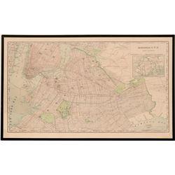 Rand-McNally Map of Brooklyn & Vicinity  (118297)