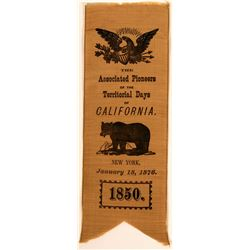 Associated Pioneers of the Territorial Days of California Ribbon  (113249)