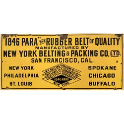 New York Belting & Packing Co. Porcelain Sign  (118278)