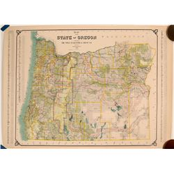 Map of the State of Oregon 1904 Rail Road Map  (117746)