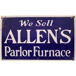 Allen's Parlor Furnace Porcelain Sign  (118282)
