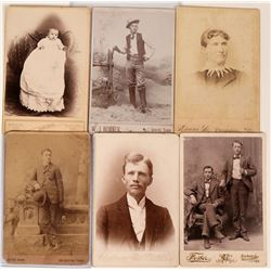 Texas Cabinet Cards (Lot of 6)  (118154)