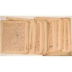 Topographical Maps of West Virginia, Virginia, Georgia  (117833)