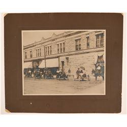 1905-06 Row of Buicks Large Mounted Photo in Sheridan, Wyoming   (111965)