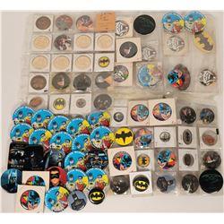 Batman Pin Backs & Coins  (119158)