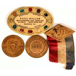 Advertising Mirror/Trustee Badge/Medal  (119075)