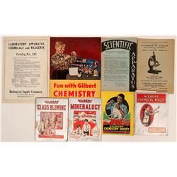 Chemistry Lab Publications and Glassware for Junior Chemists (14 Vintage Items)  (118299)