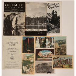 National Parks, California Publications & Postcards (10 pieces!)  (120030)