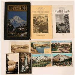 National Parks, Washington & Oregon Publications & Postcards  (10 pieces!)  (120032)