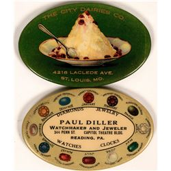 Oval Pocket Advertising Mirrors  (119081)