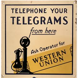 Western Union Telegraph Office Sign  (118283)