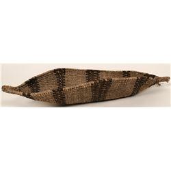 Vintage Ethiopian Canoe Basket  (119197)