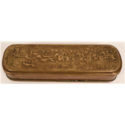 German Brass and Copper Tobacco Box  (119196)