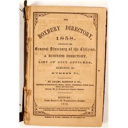 The Roxbury Directory, 1858, Number VI  (82815)
