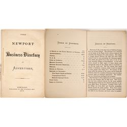 The Newport Business Directory and Advertiser, 1870  (82841)